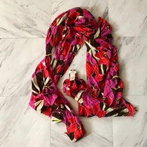 Kate Spade tropical floral scarf